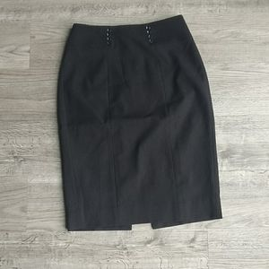 WHBM Pencil Skirt w/ Button Detail Business Casual